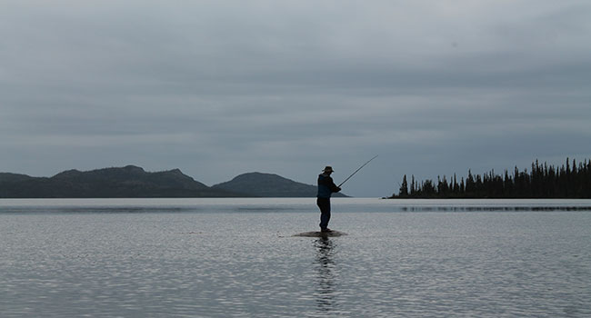 An epic fishing adventure at the Arctic Circle